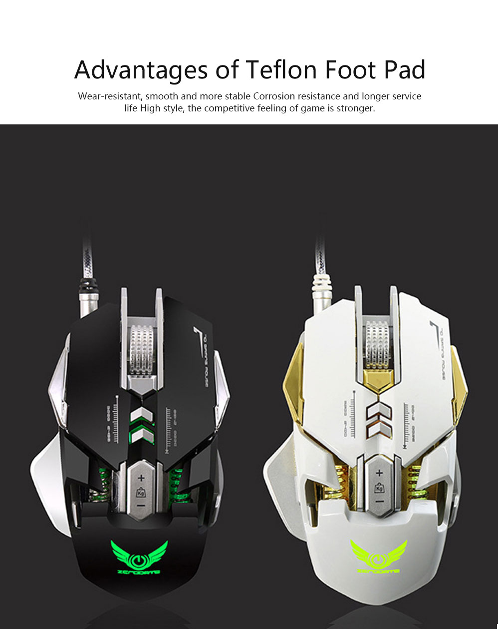 ZERODATE G9 Gaming Mouse Wired Mechanical Mouse Herdsman Macro-program LED Mouse for Game Competition Office Internet Bar Laptop 6