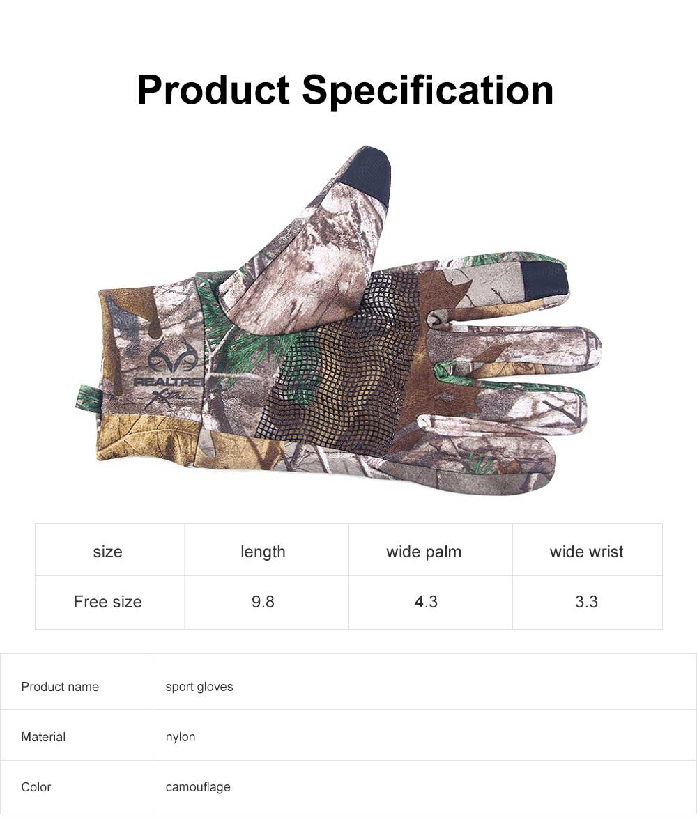 Outdoor Camouflage Gloves Thin Section Windproof Warm Gloves Anti-slip Fishing Gloves For Men, Women 6