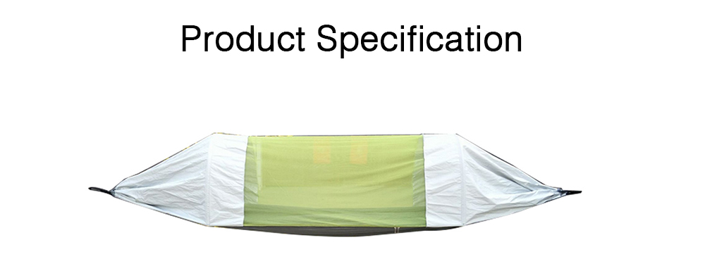 Outdoor Camping Hammock Nylon Material Enclose Style Parachute Cloth Anti-Mosquito Bed Net Ultraviolet-proof High-bearing for Two Peoples Hammock 7