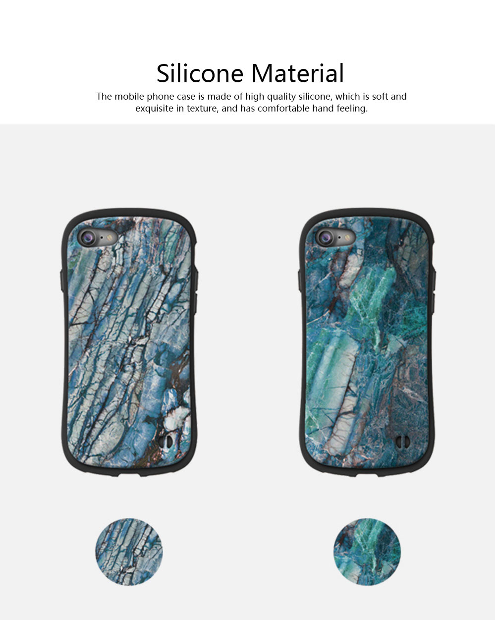 Creativity Silicone All-inclusive Fall Prevention Sling Mobile Phone Shell for iPhone 8 Plus & 7P & 6S 1
