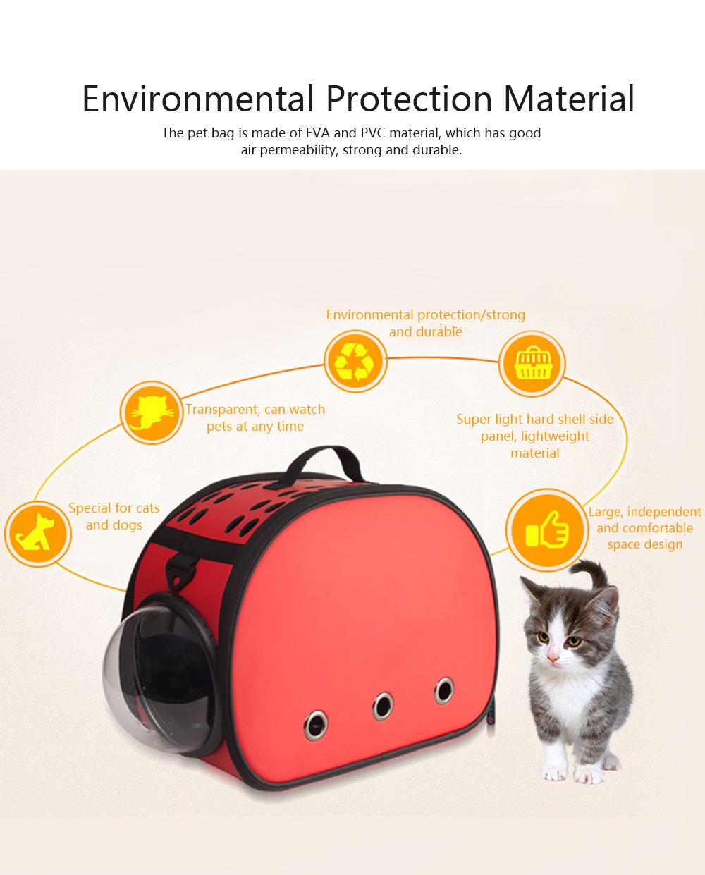 Pet Bag Intelligent Cooling EVA Puppy Travel Cage Portable Collapsible One Shoulder Handbag for Pet Dog Cat Travel Bag 1