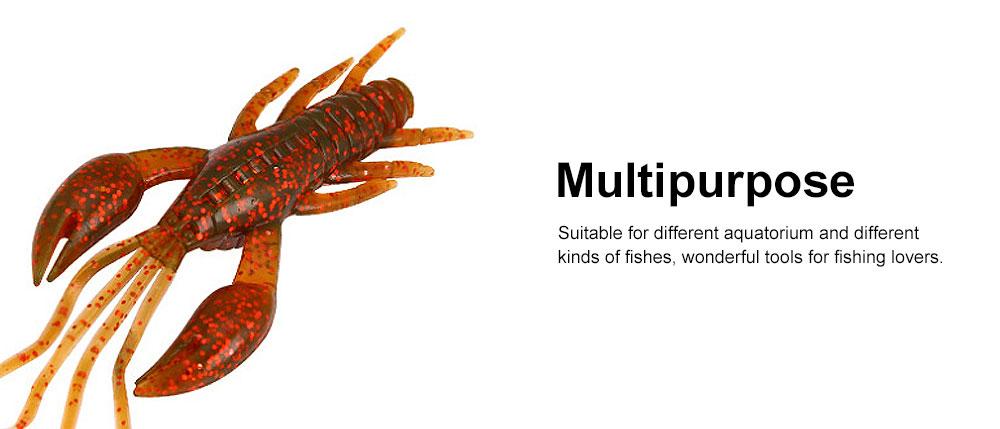 Silicone Shrimp Fishing Lures Silica Gel Artificial Lure Shrimp Soft Crawfish Lures Fishing Lure Bait 4