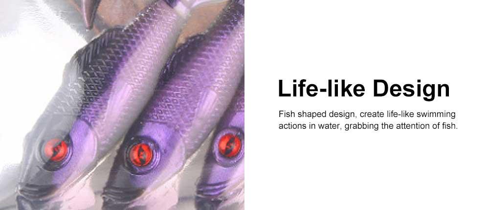 Two Colors Soft Fishing Lure Minnow Grub Artificial Fishing Lure Bionic Fishing Lure Baits Life-like Lure 4