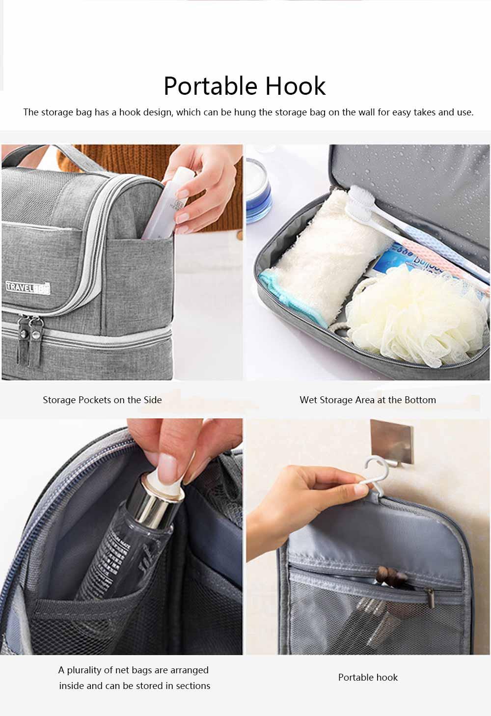 Storage Bag Dry Wet Depart Wash Bag Large Capacity Portable Waterproof Cosmetic Bag for Travel Business Trip 3
