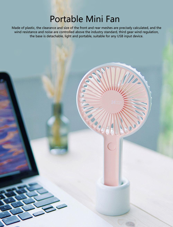 Besiter Mini USB Charging Portable Hand-held Mute Strong Wind Fan for Students Electric Fan Household Fan 0