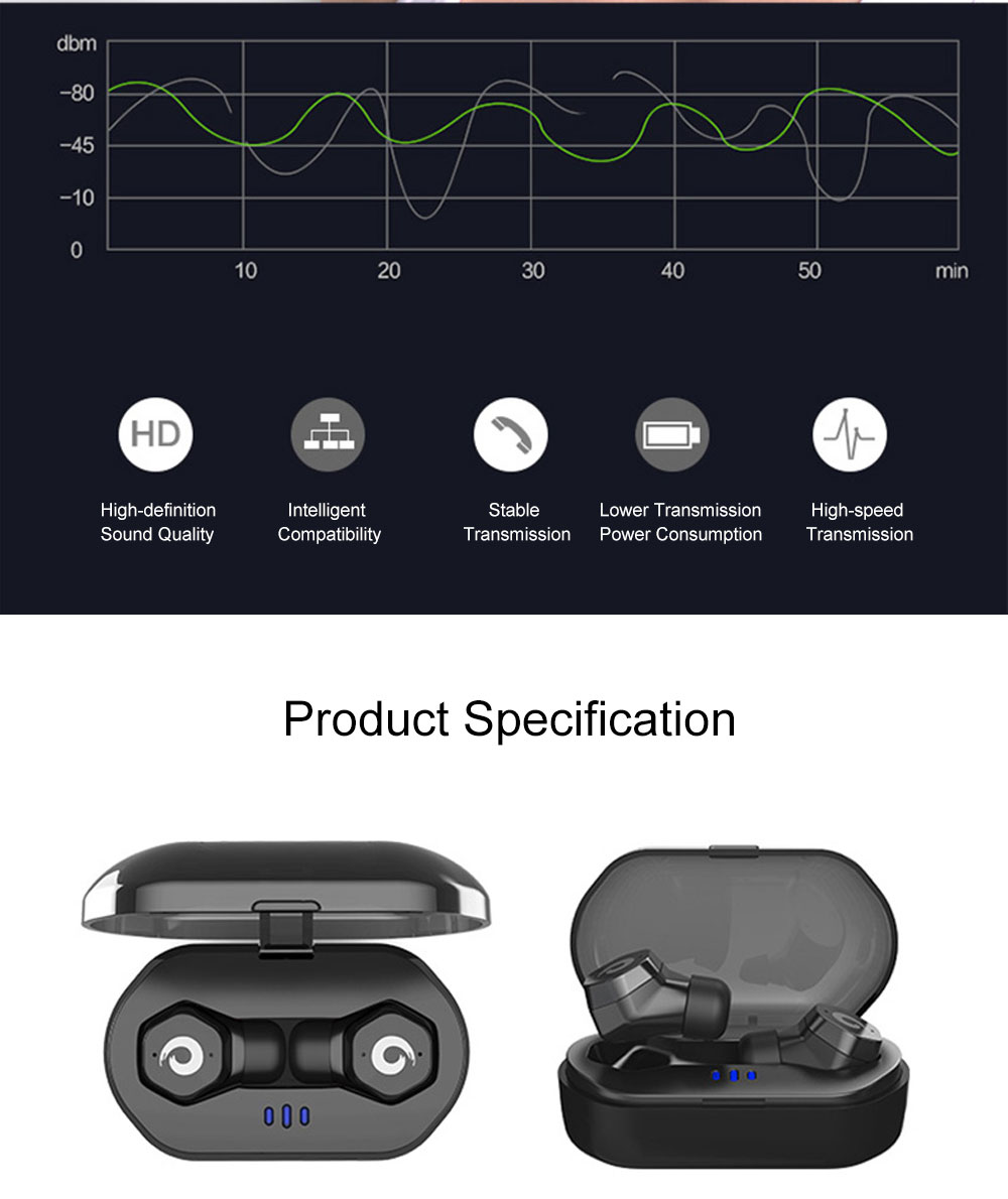 Langston F8 Mini Bluetooth Earphone In-ear Wireless Earphone Universal Waterproof for Apple VIVO OPPO HUAWEI Invisible Ear Hanging Type Earphone 6