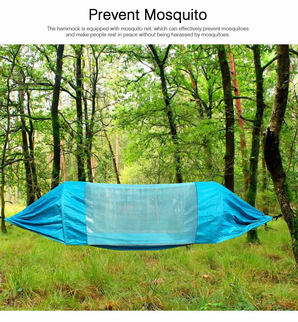 Outdoor Camping Hammock Nylon Material Enclose Style Parachute Cloth Anti-Mosquito Bed Net Ultraviolet-proof High-bearing for Two Peoples Hammock 1
