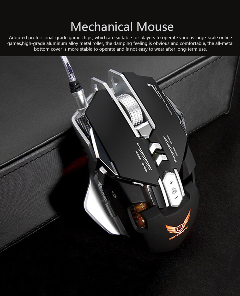 ZERODATE G9 Gaming Mouse Wired Mechanical Mouse Herdsman Macro-program LED Mouse for Game Competition Office Internet Bar Laptop 0