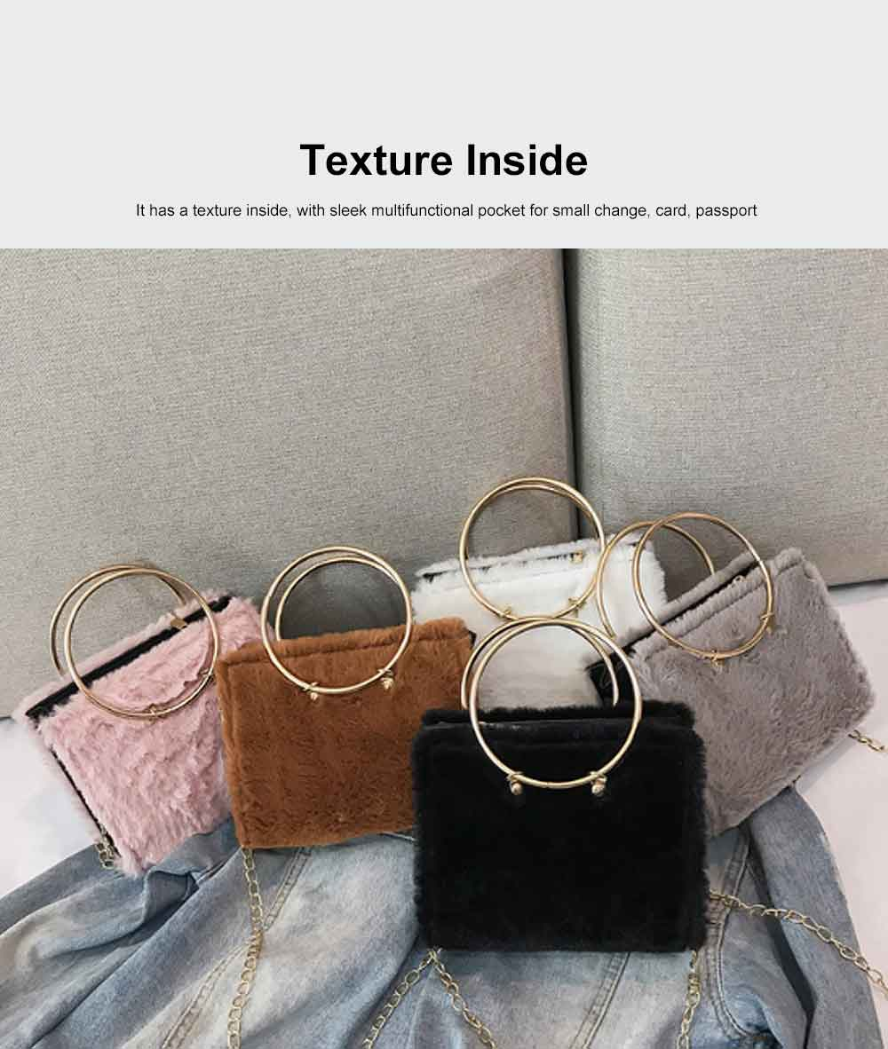 Fashion Ladies Crossbody Bag, Selected Plush Handbag, with Single Shoulder Rope and Handle Design 3