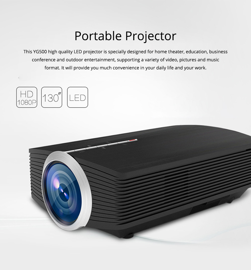 Latest High Quality Projectors YG500 Mini-sized Portable LED Projection Machine Home Theater for Home Using & Outdoor Entertaining 1080P 0