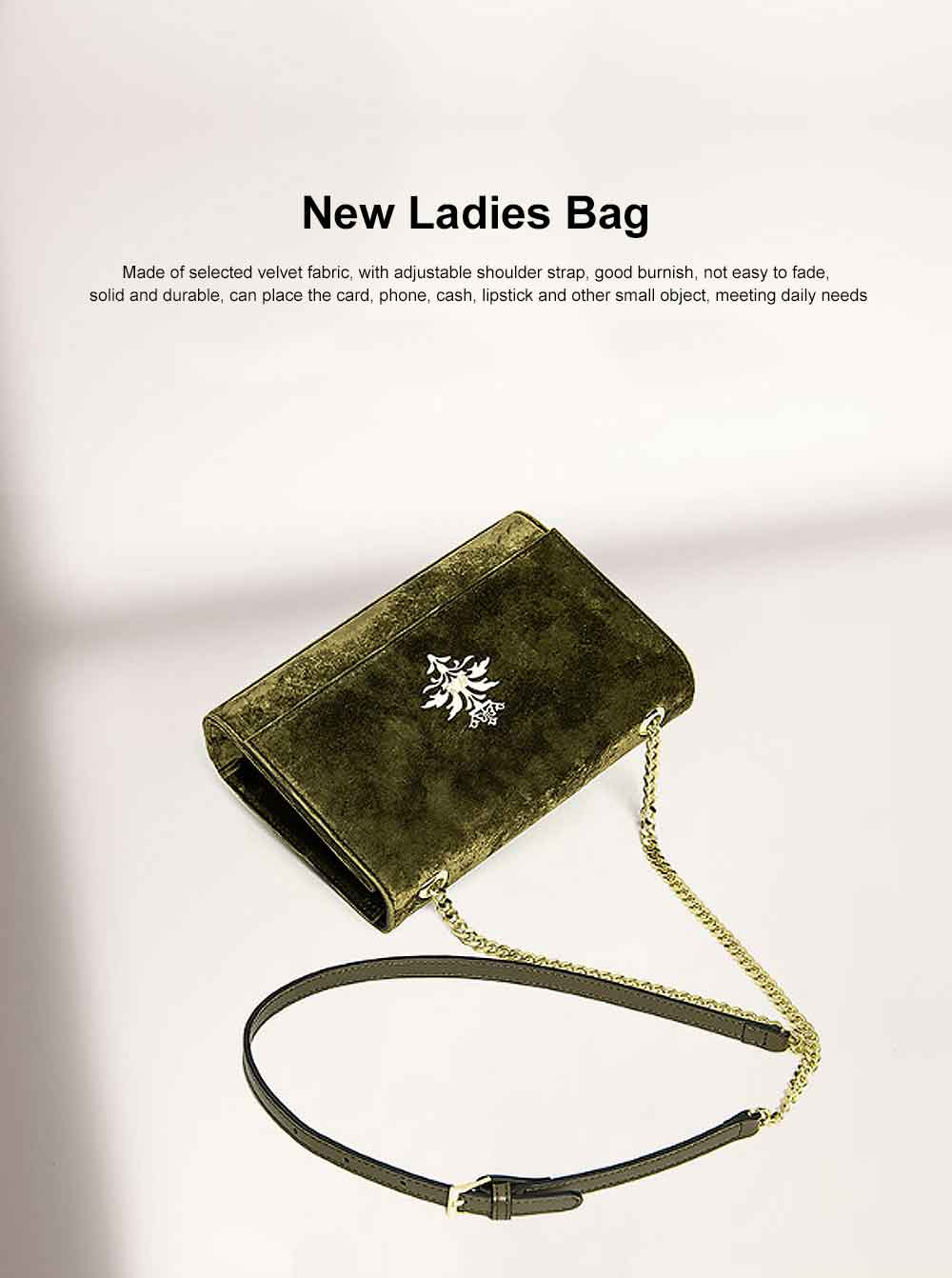 New Velvet Fashion Flip Cover Small Square Bag, Ladies Shoulder Bag, Autumn Winter, 2019 0