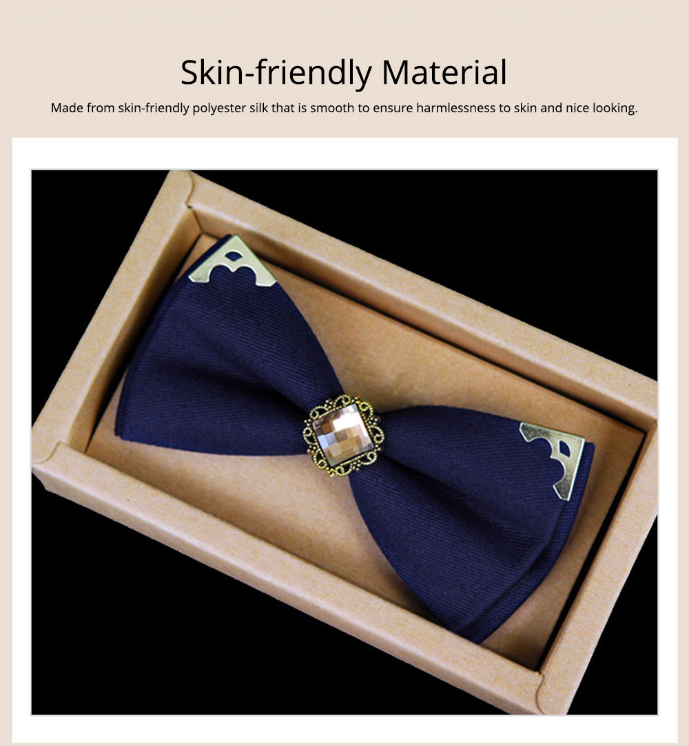 Korean Style Bow Tie for Male Fashionable Man-used Wrap Angle Bow Tie for Bridegroom Groomsman Classic Gem Bow Tie 1