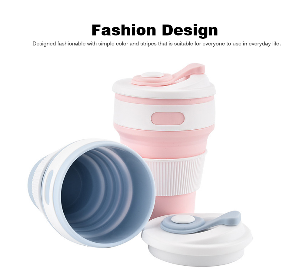 Collapsible Water Bottle Ideal for Outdoor Activities, Silicone Leakproof Water Bottle for Travel 3