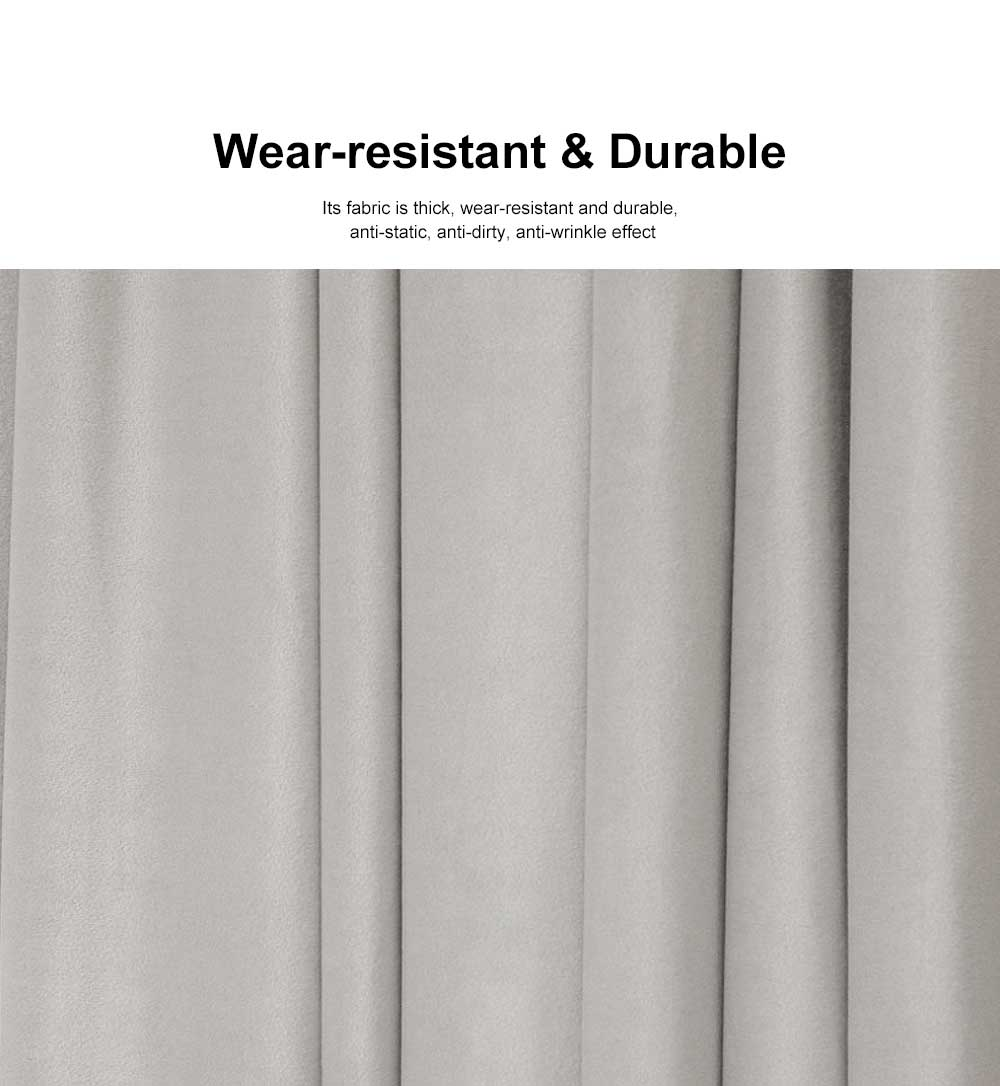 Modern Retro American Style Grey Curtains, Blackout Curtains for Bedroom Living Room, Light Luxury Velvet Curtains 3