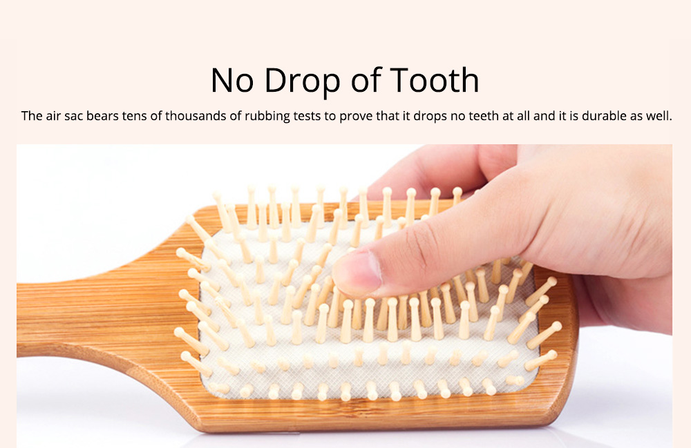 Bamboo Air Sac Massage Comb for Curled Hair Air Pad Comb Bamboo Comb Household Air Sac Massage Comb Hairdressing Tools 1