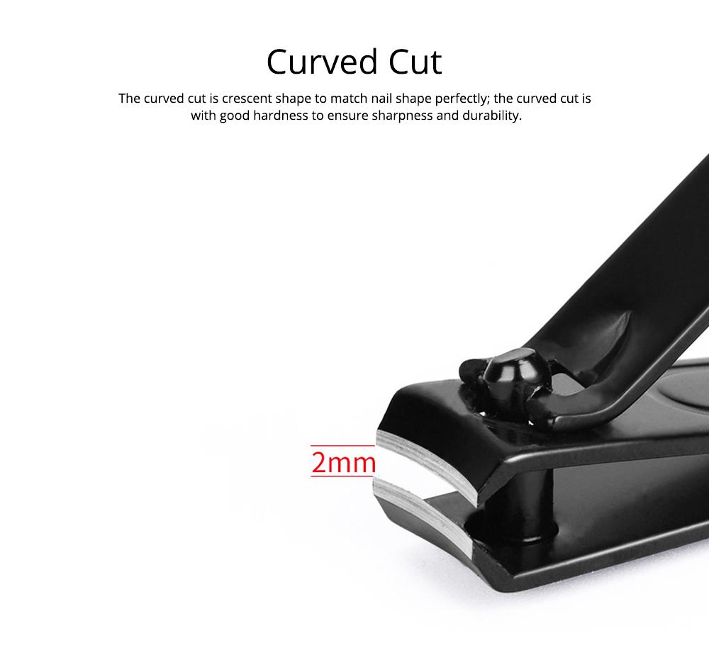 Carbon Steel Nail Clipper Black Treatment Nail Caring Tool Carton Steel Clipper EXW Nail Caring Nail Clipper 3