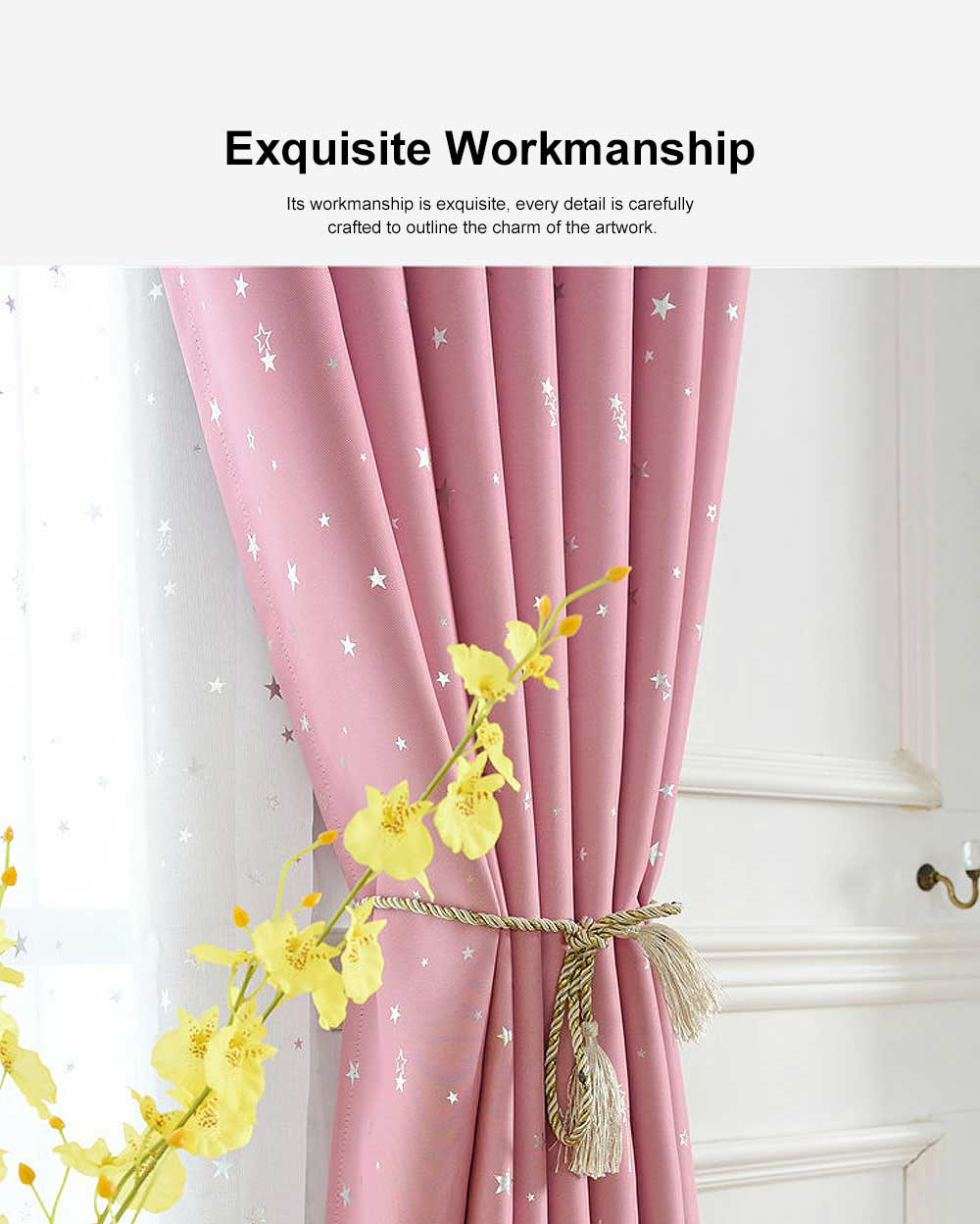 Star Hot Silver Curtain, Multicolor Curtains for Hotel Engineering, Living Room, Bedroom, High-quality Flannel Curtain 4