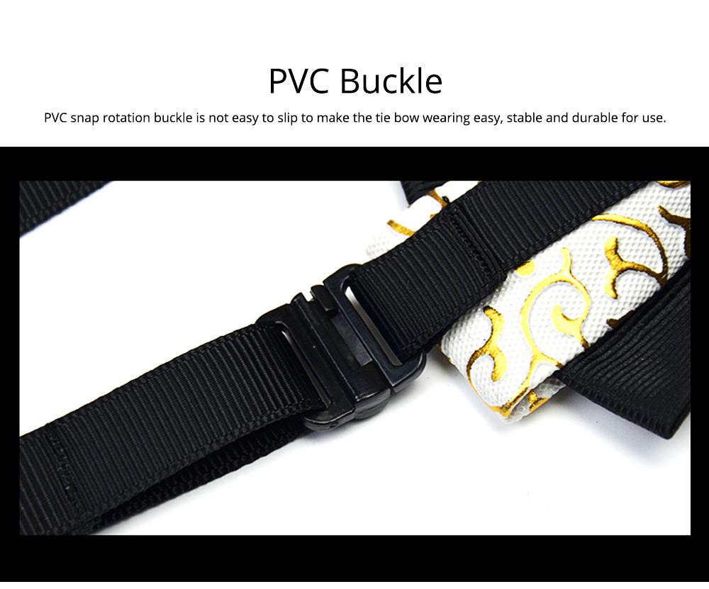 Bow Tie of PU Leather for Wedding Business Suit Bow Tie Fashionable British Style Elviro Tie Bridegroom Groomsman Used Bow Tie 6