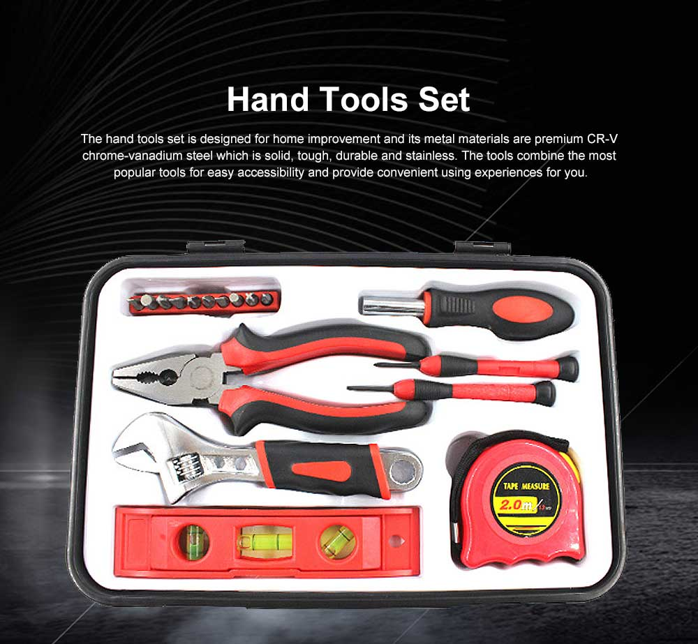 Household Tool Set for Home Use, Hand Tools Set, 18 PCS Tools Set, Strong Hand Tools, Home Repair Tool Set 0
