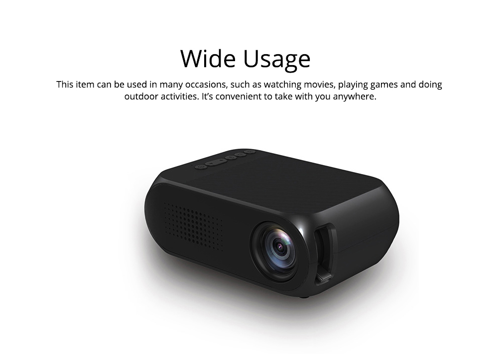 Domestic New Style Home Theater YG320 Mini-sized Portable Projection Machine for Home Using 1080P Supporting for OEM Custom 1