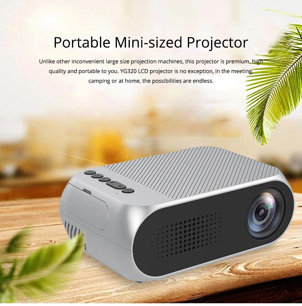 New Style High Quality Projectors YG320 Mini-sized Portable Projection Machine for Home Using 1080P Supporting for OEM Custom Home Theater 0