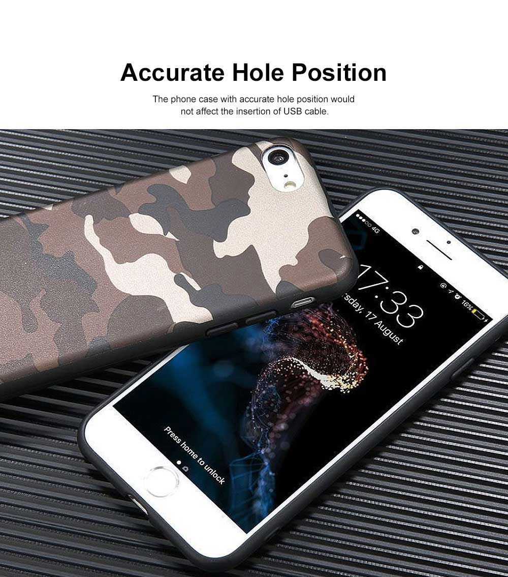 Camouflage Phone Case, Leopard Print Case Cover, Smooth TPU Phone Case, Luxury Ultra Thin Case Cover for iPhone 3