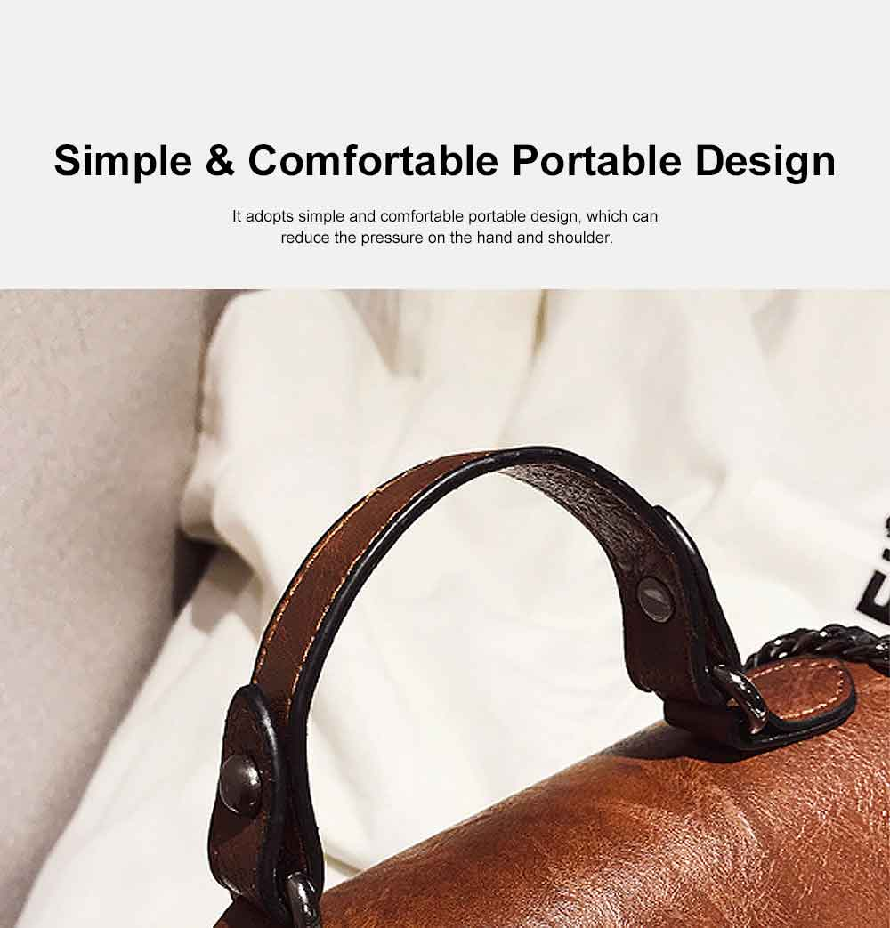 Retro Ladies Small Square Bag, Wild Wide Shoulder Bag, with Simple and Comfortable Portable Design 4