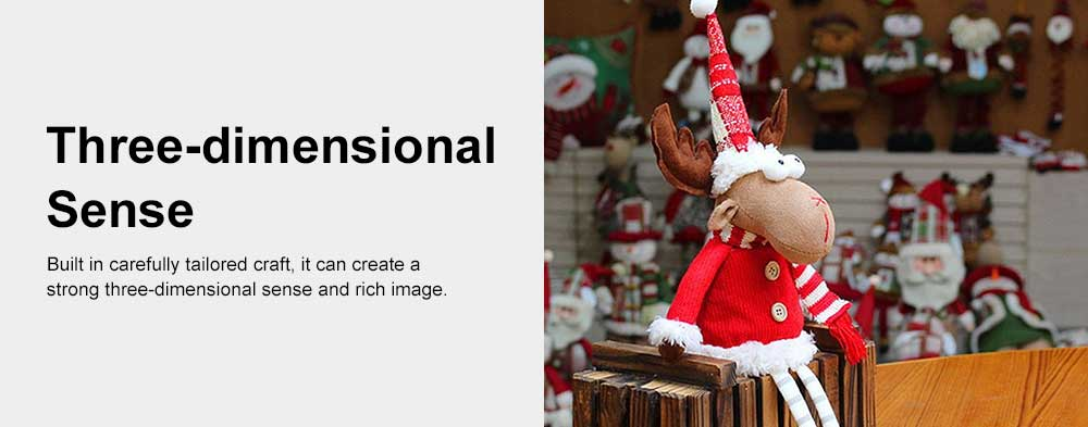 Christmas Decorations Elk Ornaments Christmas Fabric Sitting Posture Dolls Christmas Creative Toys 5