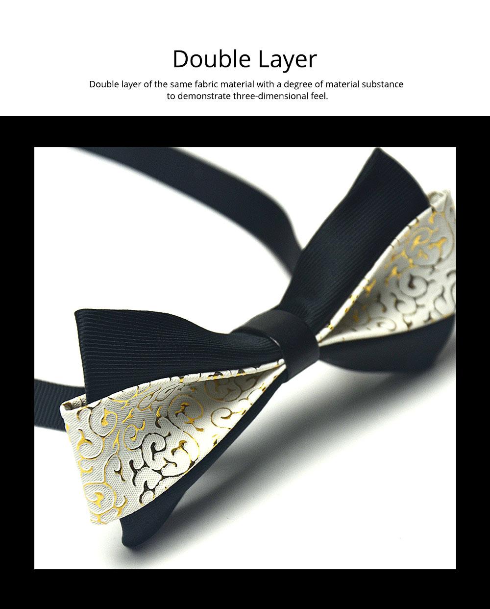 Bow Tie of PU Leather for Wedding Business Suit Bow Tie Fashionable British Style Elviro Tie Bridegroom Groomsman Used Bow Tie 2