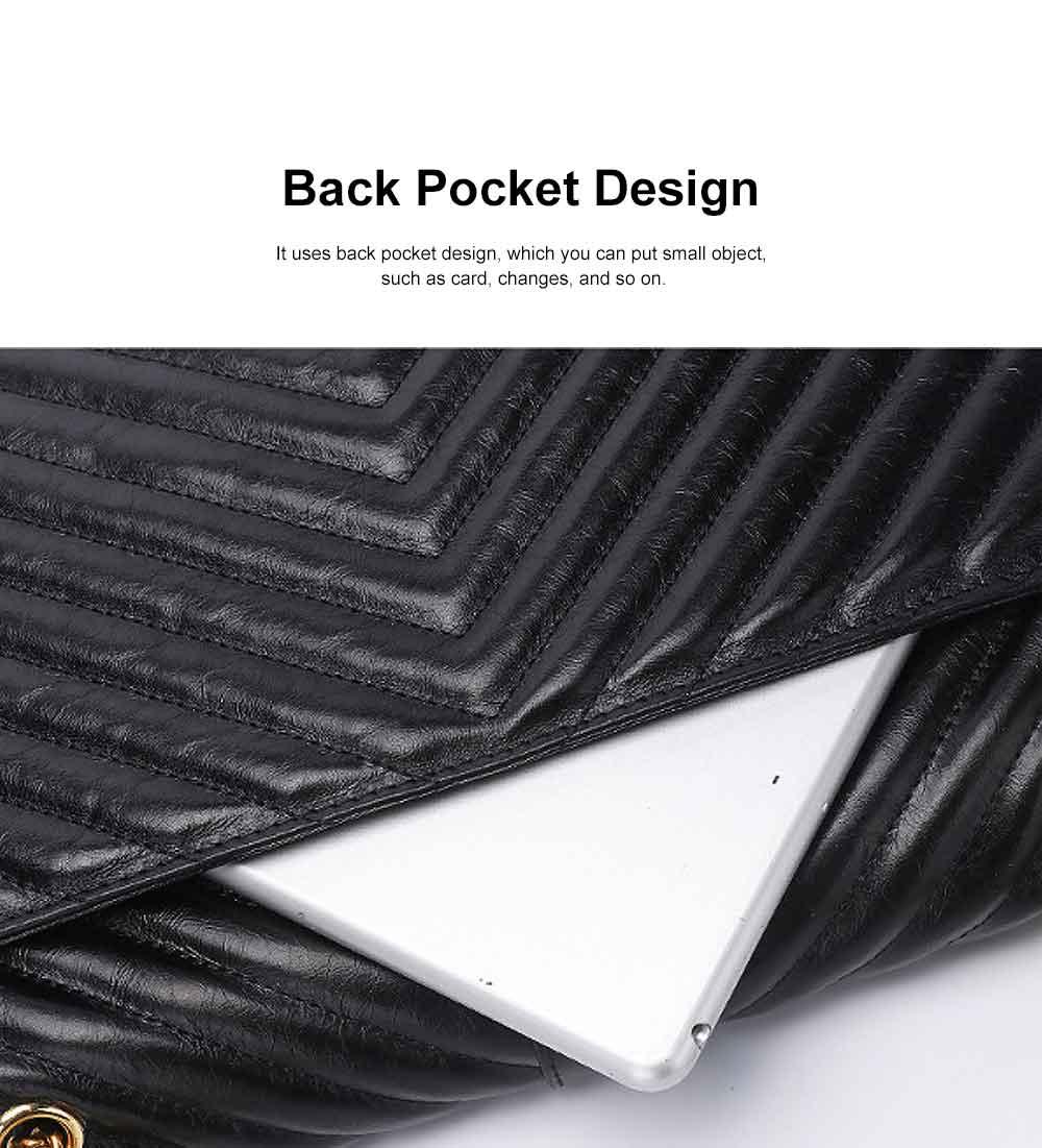 First Layer Cowhide Handbag, New Fashion Star Shoulder Diagonal Bag, with Metal Magnetic Buckle Design 4