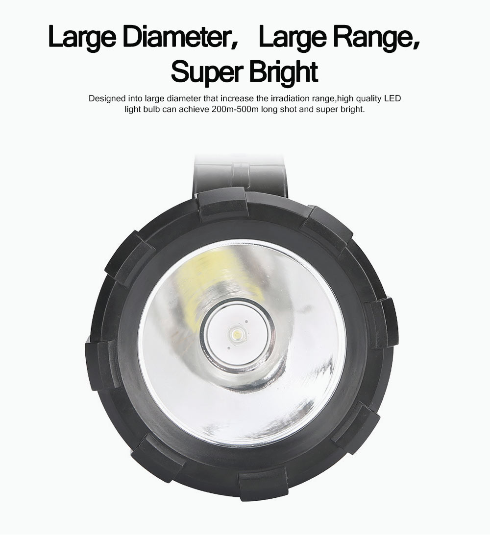 Plastic LED Large Portable Light Glare Long-range Lithium Battery Charging Outdoor Search Mining Lamp Emergency Flashlight 2