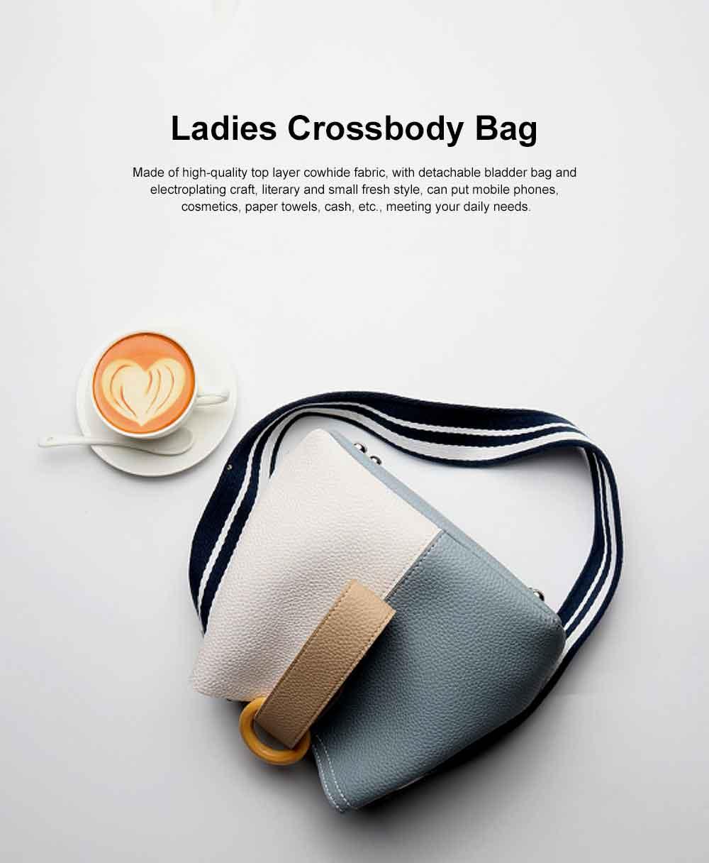 Fresh Ladies Crossbody Bag, Female Bucket Bag, with Detachable Bladder Bag 0