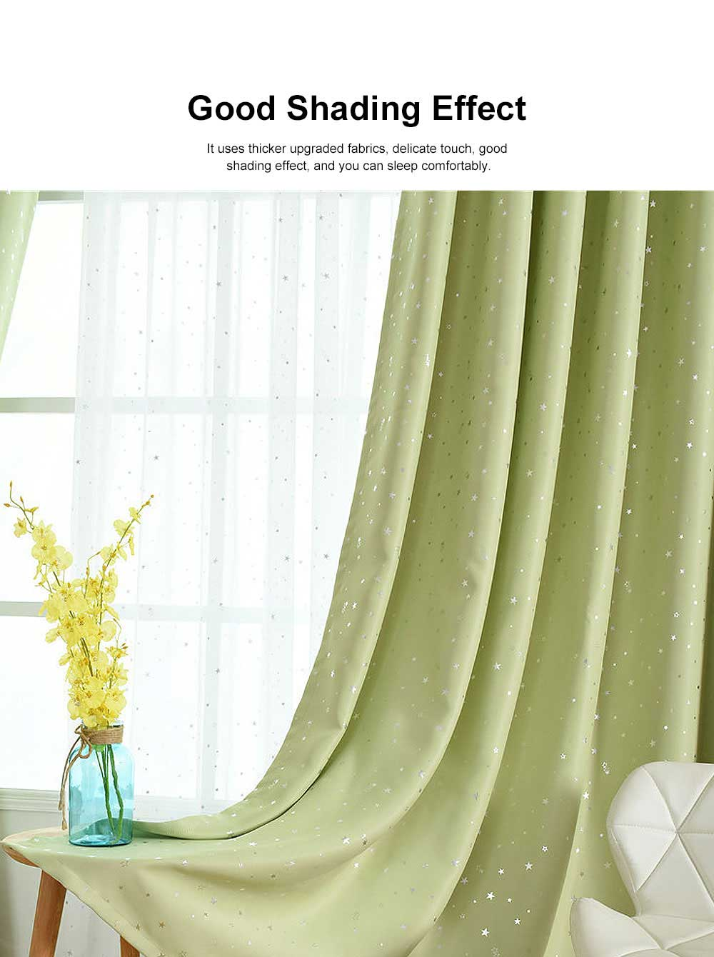 Star Hot Silver Curtain, Multicolor Curtains for Hotel Engineering, Living Room, Bedroom, High-quality Flannel Curtain 5