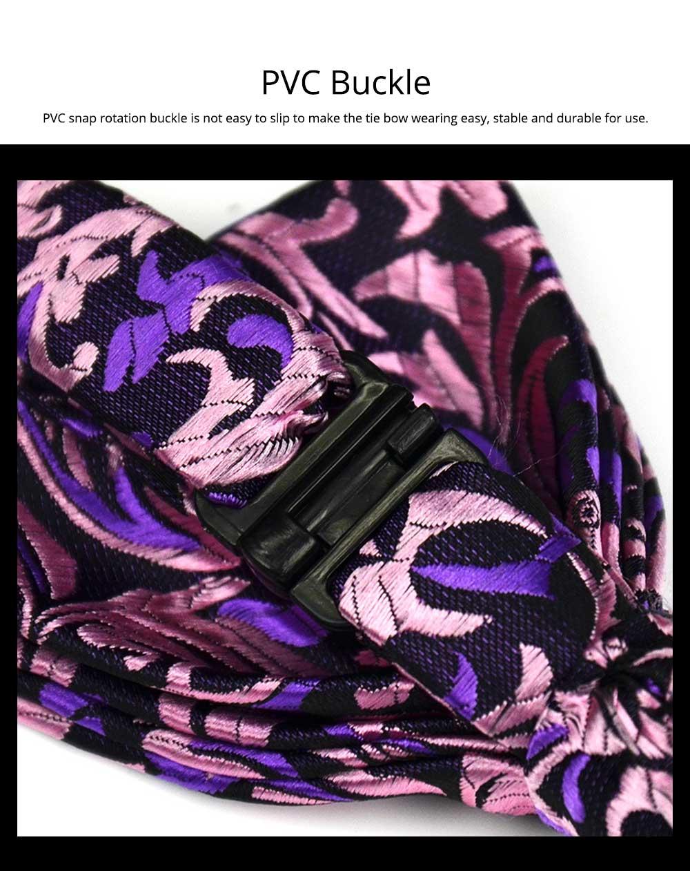 Bow Tie for Wedding Business Suit Fashionable British Style Elviro Tie Bridegroom Groomsman Used Bow Tie Purple Pink Tie European Pattern Design Tie 5