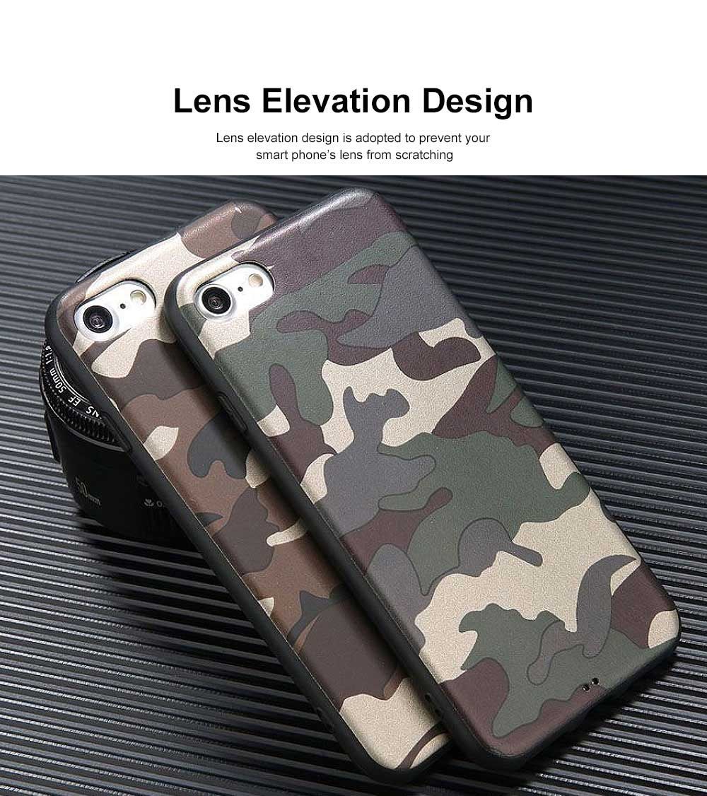 Camouflage Phone Case, Leopard Print Case Cover, Smooth TPU Phone Case, Luxury Ultra Thin Case Cover for iPhone 5