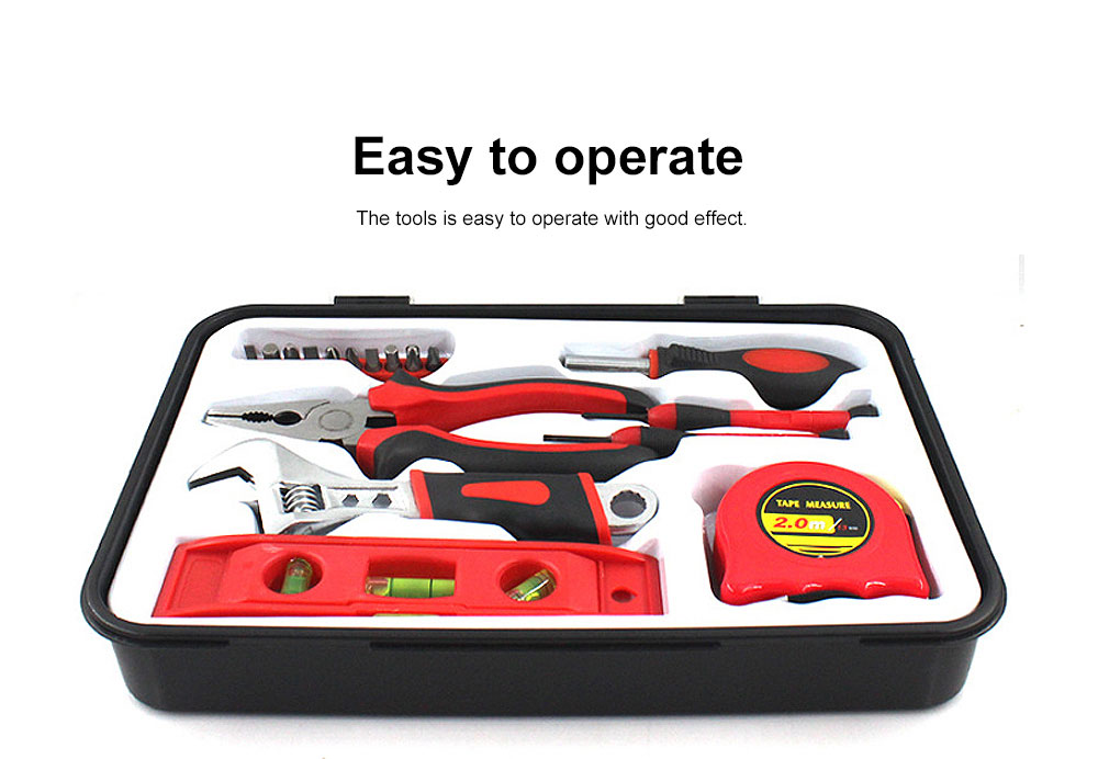 Household Tool Set for Home Use, Hand Tools Set, 18 PCS Tools Set, Strong Hand Tools, Home Repair Tool Set 1