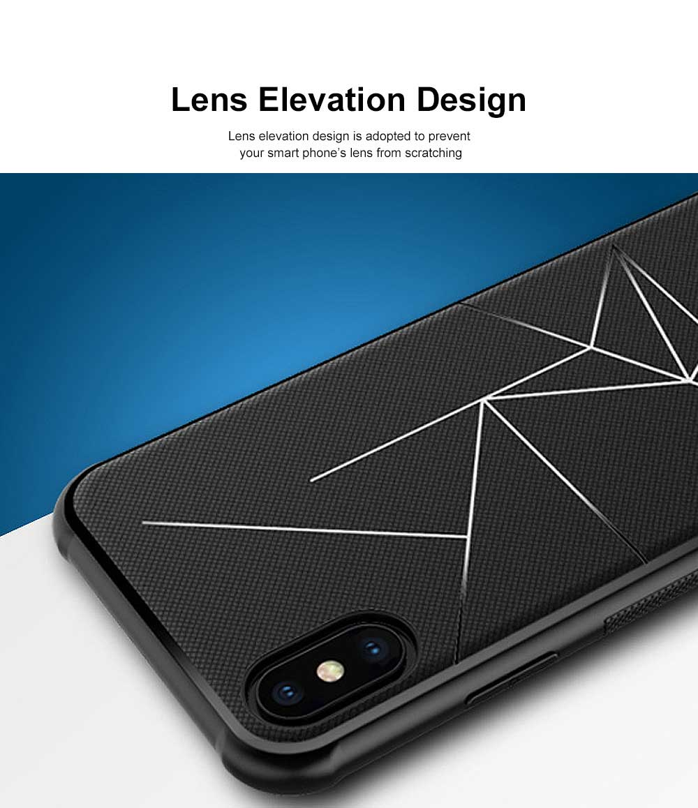 Geometric Scheme Phone Case, Magnetic Car Holder TPU Phone Case, Four-angle Thicken Protection, Minimalist Phone Case for iPhone and Samsung 5