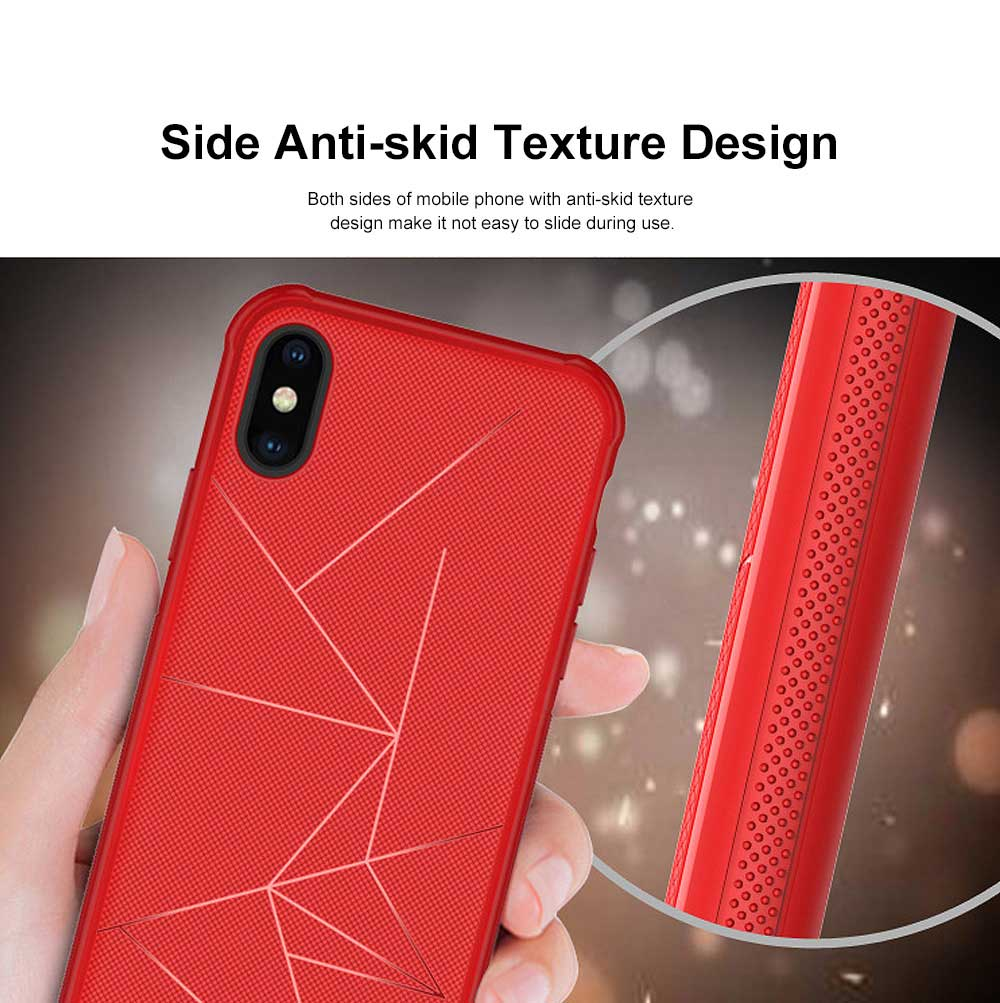 Geometric Scheme Phone Case, Magnetic Car Holder TPU Phone Case, Four-angle Thicken Protection, Minimalist Phone Case for iPhone and Samsung 1