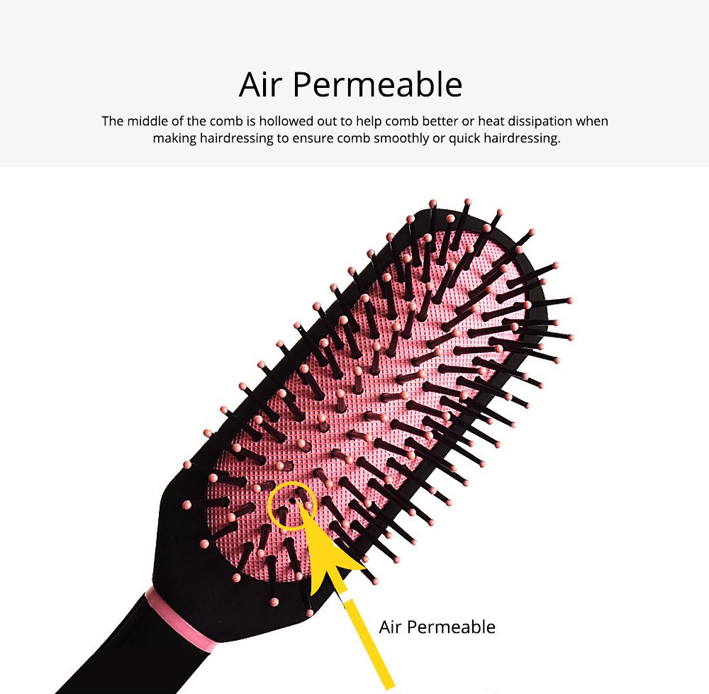 Air Pad Massage Comb Dull Polished Black Massage Comb Plastic Comb Square Hairdressing Massage Comb Hairdressing Tools 3