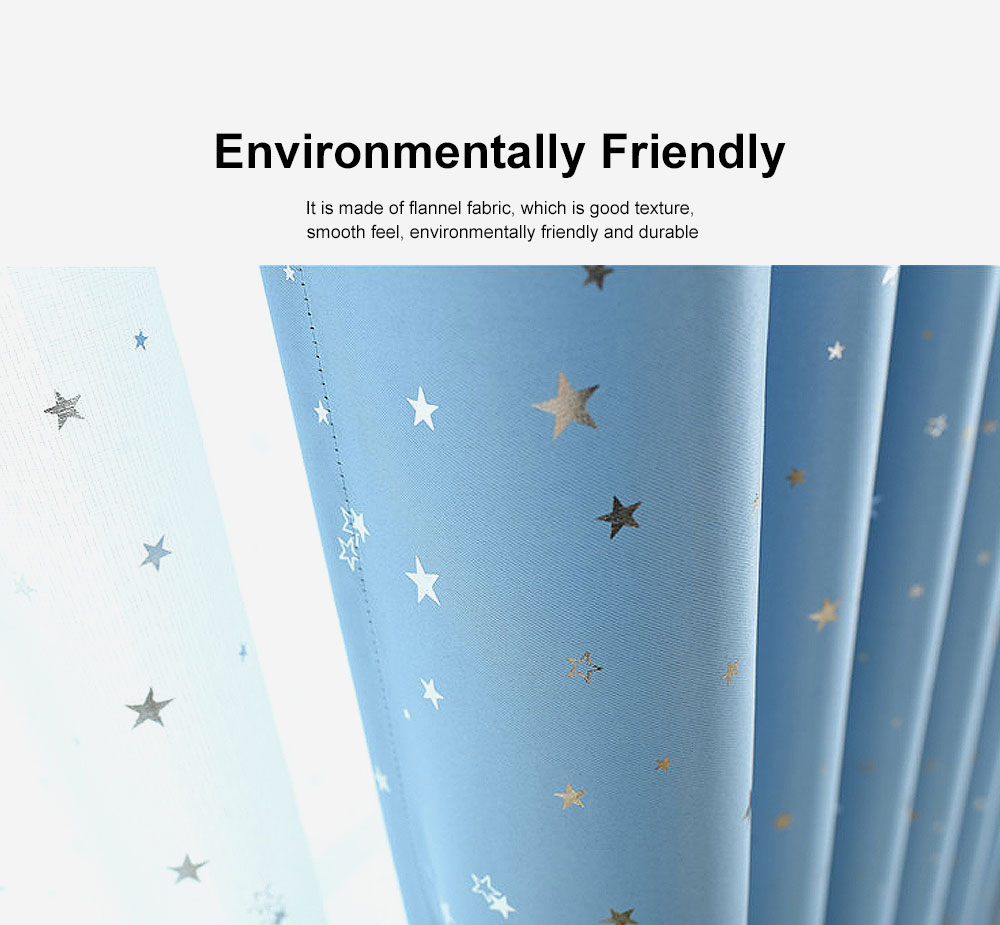 Star Hot Silver Curtain, Multicolor Curtains for Hotel Engineering, Living Room, Bedroom, High-quality Flannel Curtain 2
