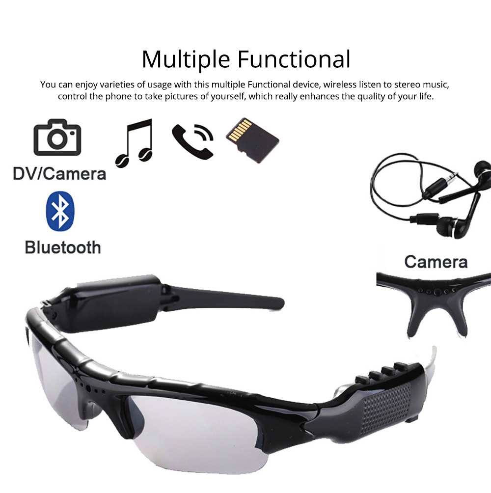 Wireless Headphones Bluetooth 4.1 Version Smart Glasses for Outdoor Activities High Quality Sunglasses for Music and Photo Shooting 7