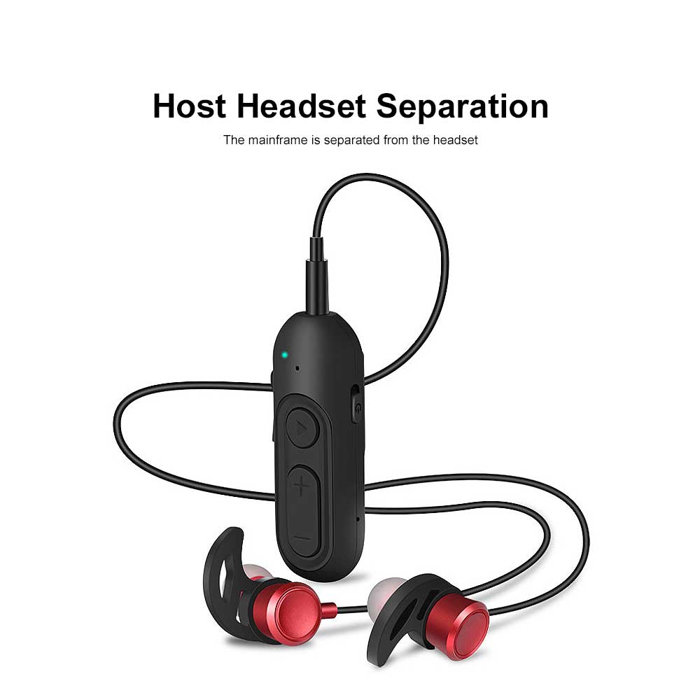 Unique Host Headset Separation Wireless CSR4.1 Bluetooth Earphone Headphones In-ear Neckband Headset Sports Supplies For iPhone Samsung 1