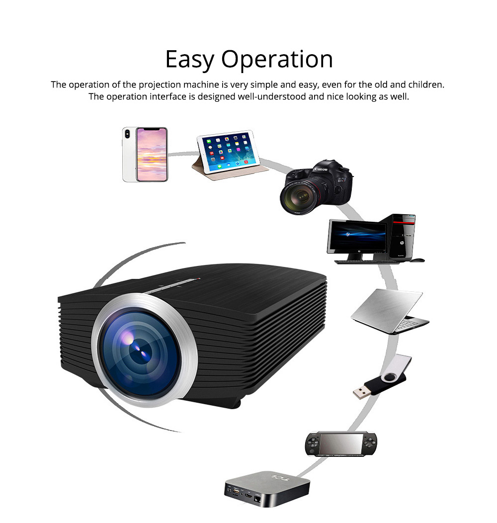 Latest High Quality Projectors YG500 Mini-sized Portable LED Projection Machine Home Theater for Home Using & Outdoor Entertaining 1080P 7