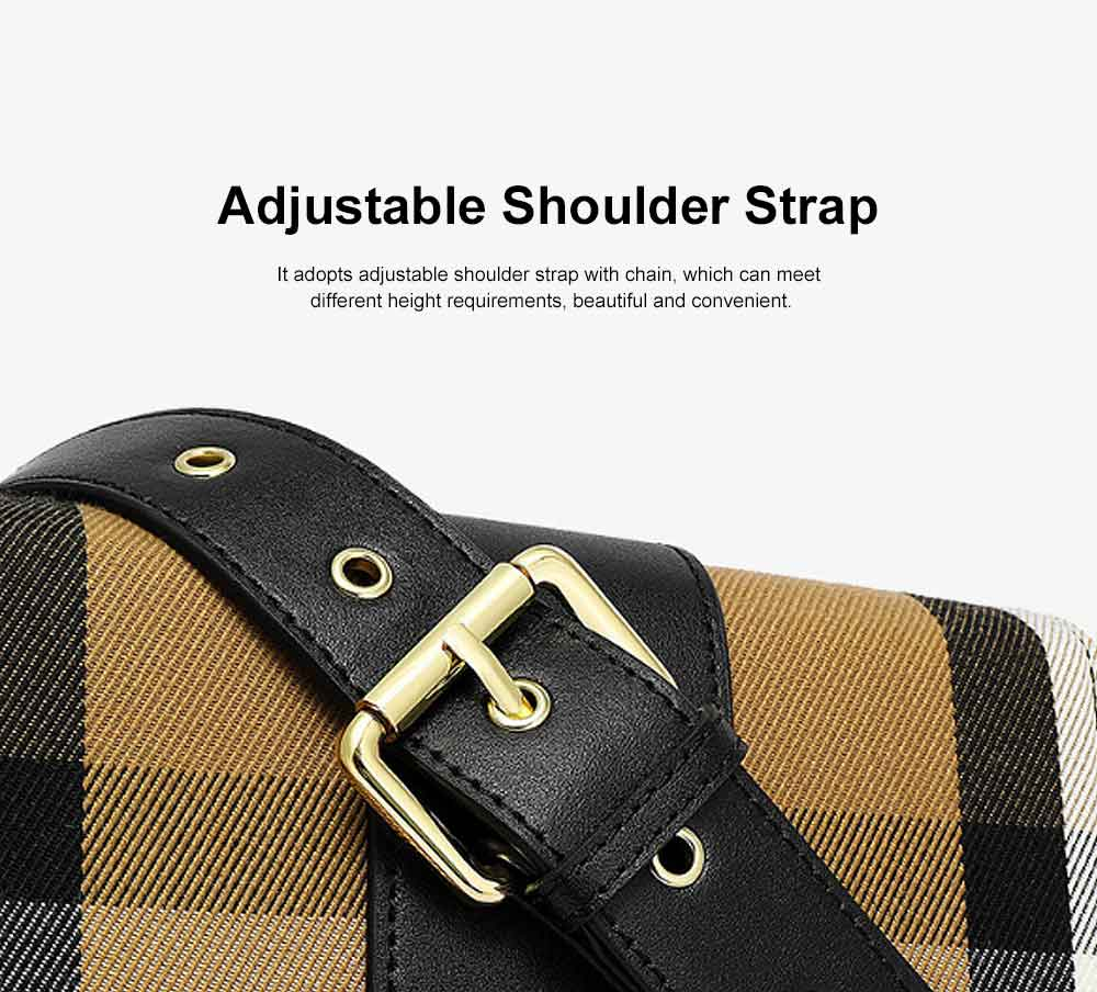 High-quality Leather Crossbody Bag, New Fashion Plaid Leather Cow Bag with Adjustable Shoulder Strap Crossbody Women Bag 1