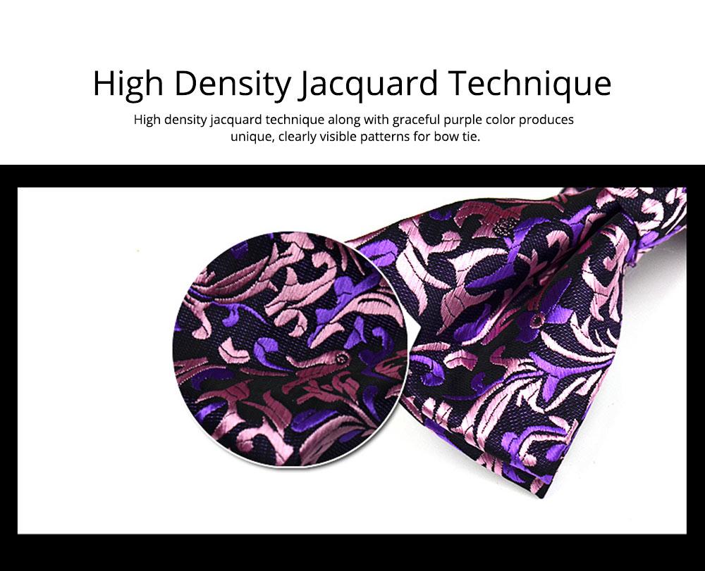 Bow Tie for Wedding Business Suit Fashionable British Style Elviro Tie Bridegroom Groomsman Used Bow Tie Purple Pink Tie European Pattern Design Tie 1