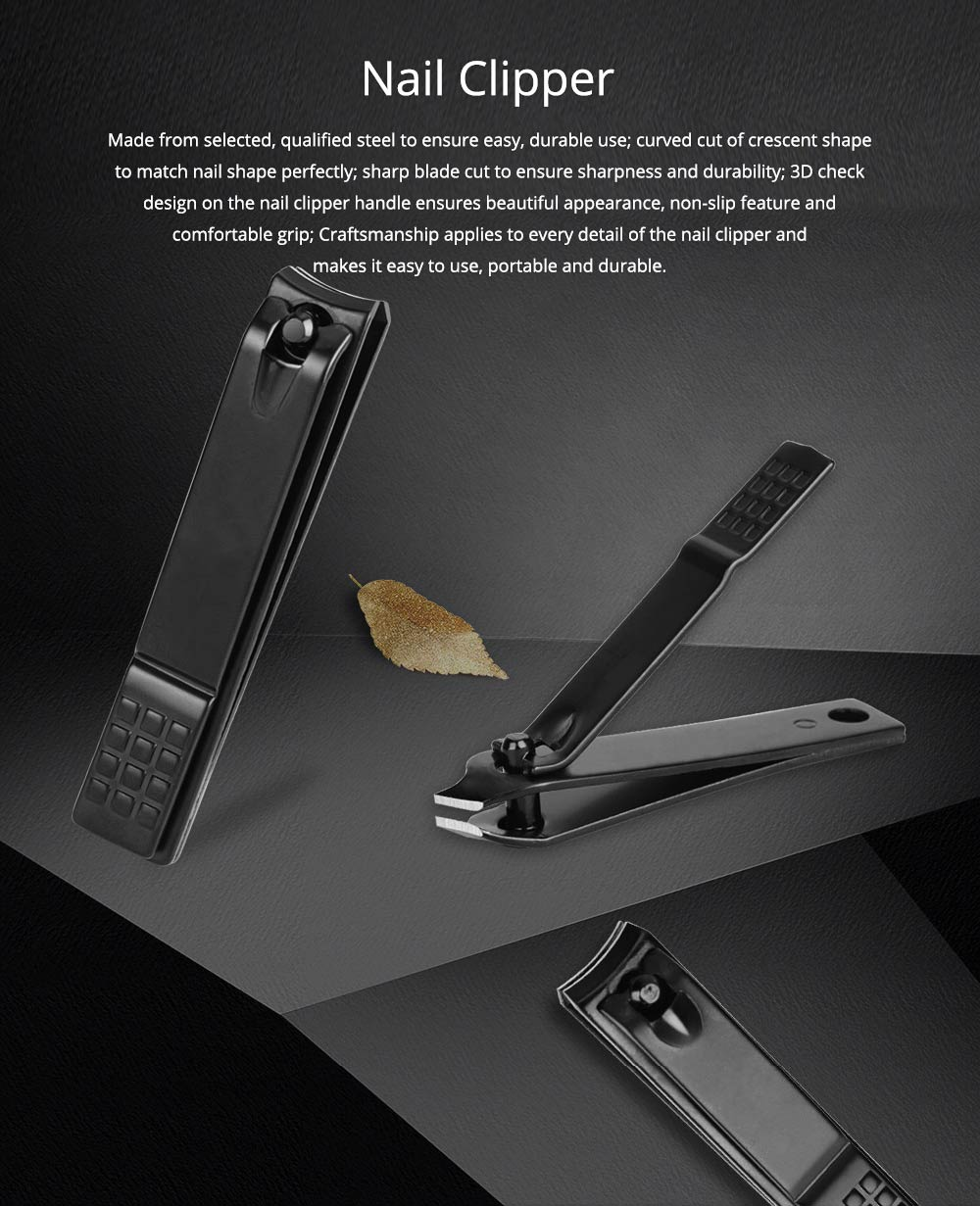 Carbon Steel Nail Clipper Black Treatment Nail Caring Tool Carton Steel Clipper EXW Nail Caring Nail Clipper 0