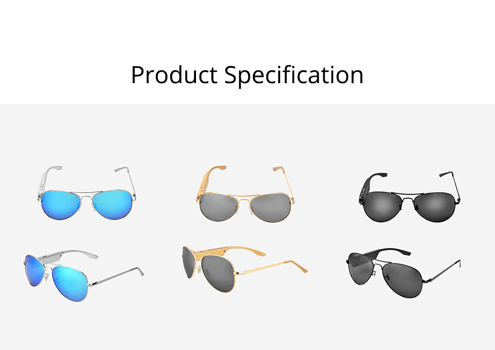 Smart Earphones Bluetooth 4.1 Version Polarized Sunglasses for Music, Broadcast and Phone Calls Long Distance Wireless Connected Smart Earphone 7