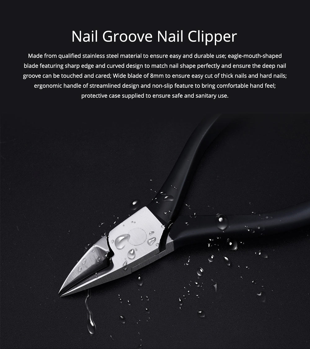 Nail Groove Nail Clipper for Nail Caring Stainless Steel Beauty Makeup Tool 0