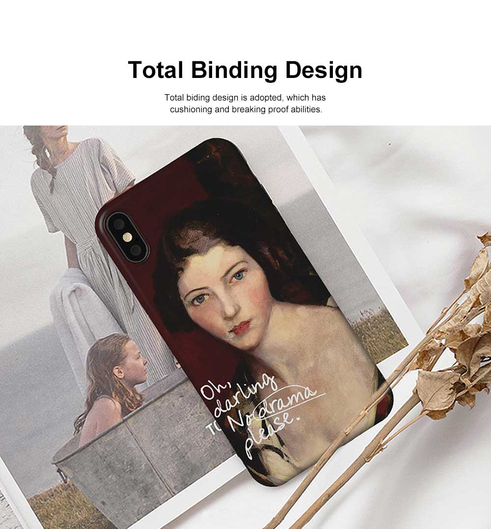 Creative Oil Painting Phone Case, Fine and Smooth TPU Phone Case, Elegant Ultrathin Soft Case for iPhone 1