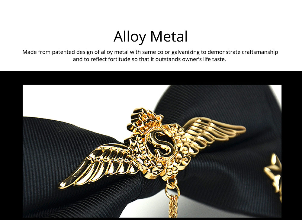 Bow Tie of Double Layer for Wedding S Metal Decorative Accessory Bow Tie Fashionable British Style Tie Bridegroom Groomsman Used 1